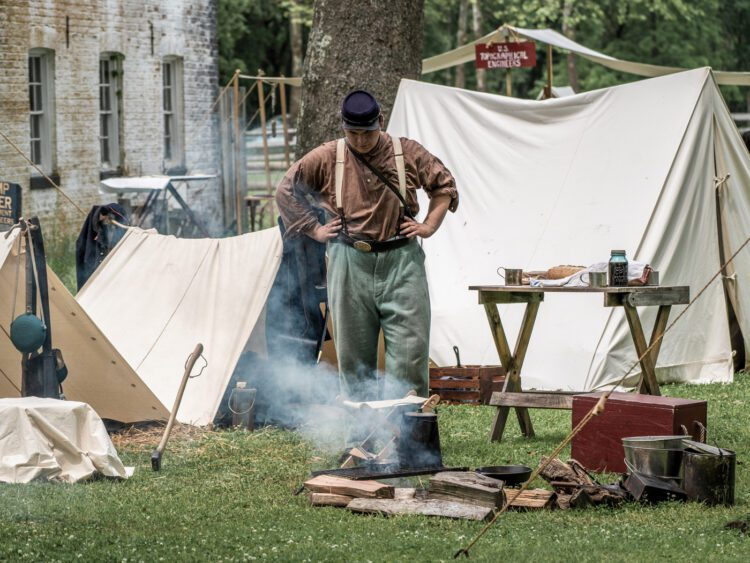 Civil War Encampment Allaire State Park 060119 073