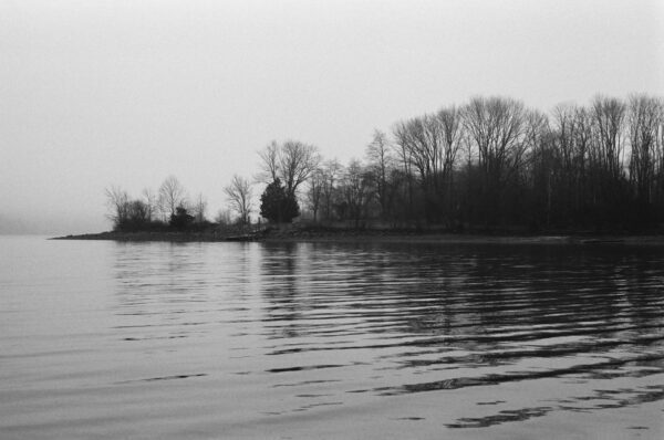 a black and white photo of Lake Galena