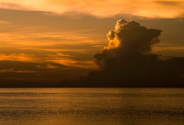 A Sunset Storm Cometh