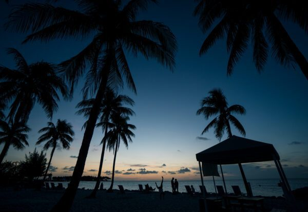 Photograph of a sunset at Tranquility Bay Resort in the Florida Keys