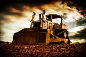 Photograph of a earth mover construction equipment