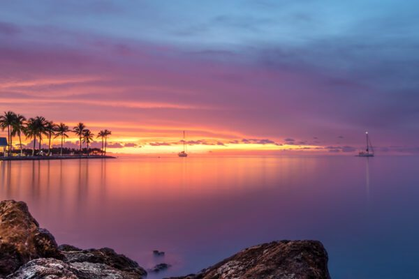 A dramatic Florida Keys sunset over the Gulf of Mexico