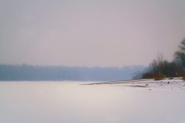 A photograph of Lake Galena Frozen