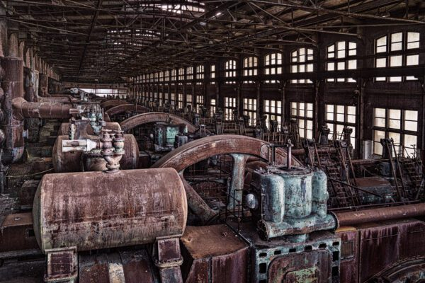 A photograph of the furnace engines at the Bethlehem Steel Stacks
