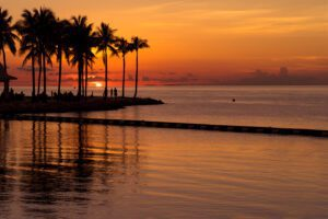 A photograph of a sunset in the Florida Keys