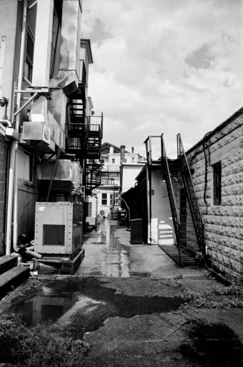 A greasy alley in Doylestown
