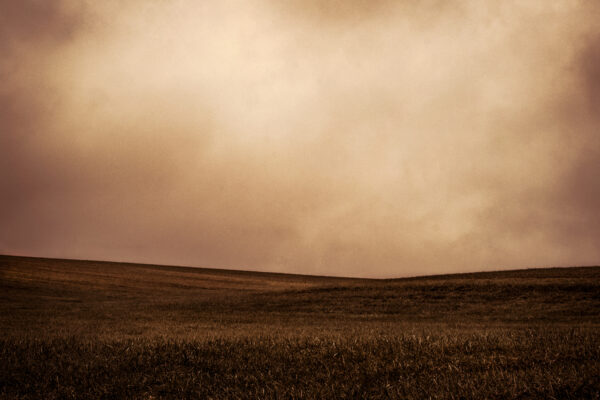 abstract photograph of a hill