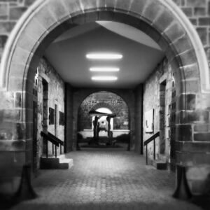 Photograph of the passage at the James A. Michener Art Museum