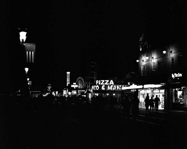 The boardwalk at night