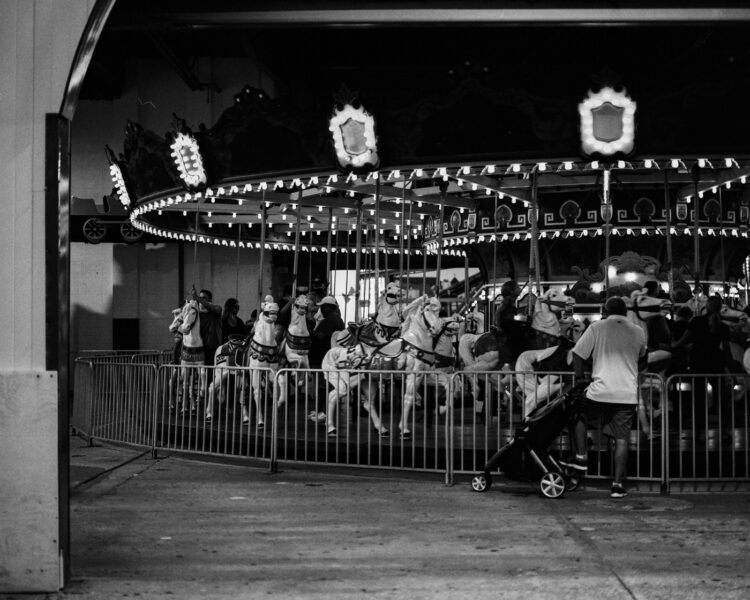 The carousel at night