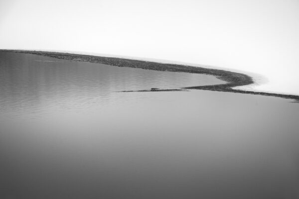 An abstract photo of ice on Lake Galena