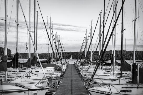 Photograph of sailboats on Lake Nockamixon