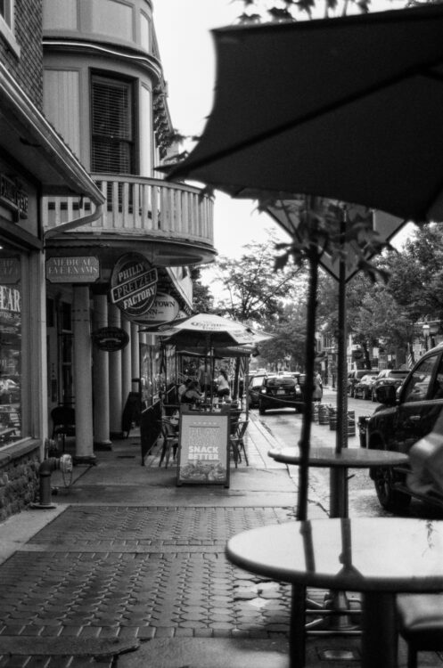 Outdoor seating in Doylestown