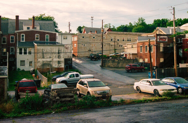 The back center of town in Souderton, PA