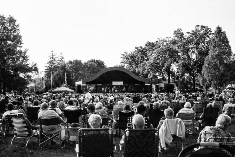 Outdoor concert in Souderton, PA