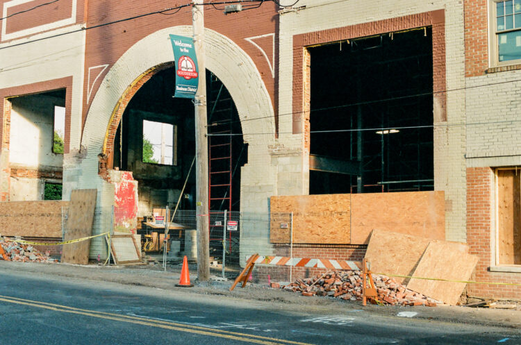 The Broad Theater under construction in Souderton, PA