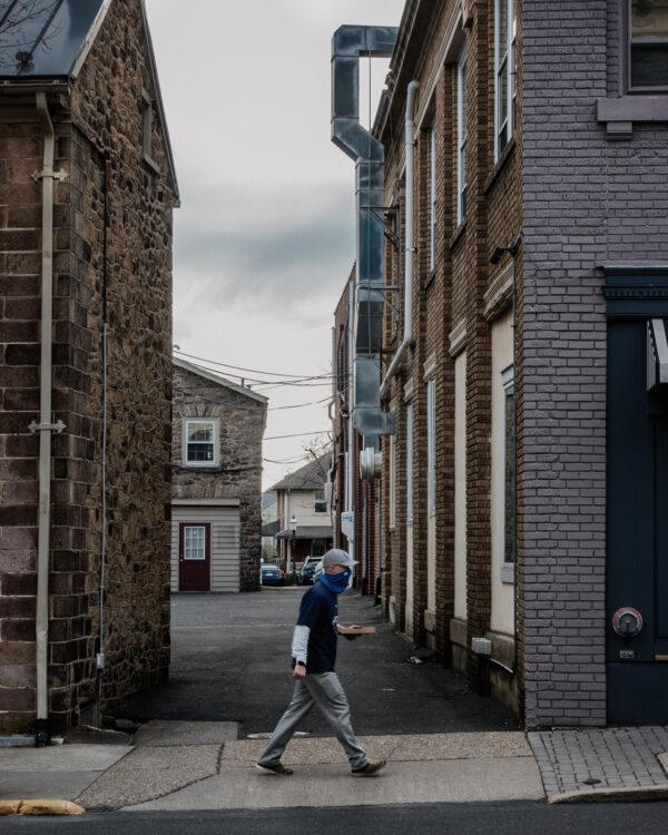 man walking in doylestown