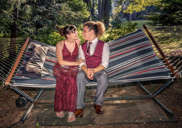 Outdoor COVID Prom Photo